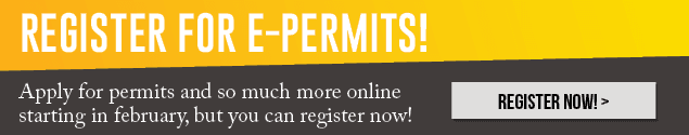 Register for EPermits Thin Banner