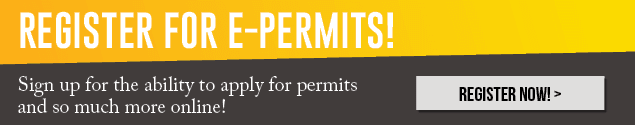 Register for EPermits Thin Banner 2