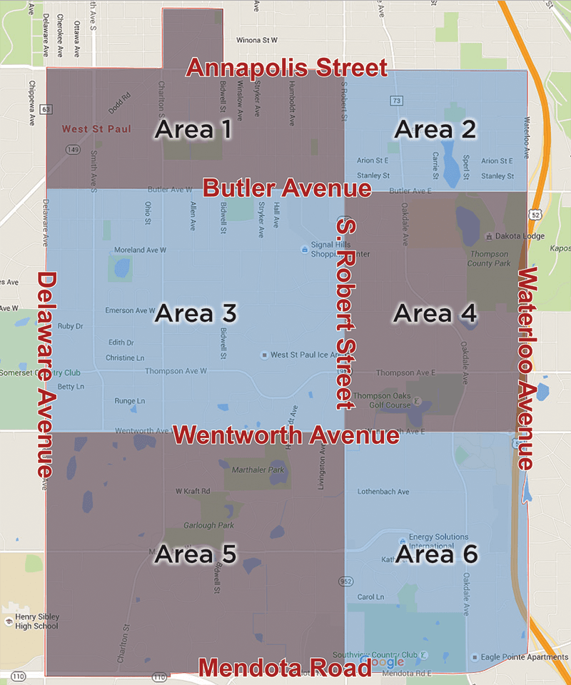 Officer Area Map Blank