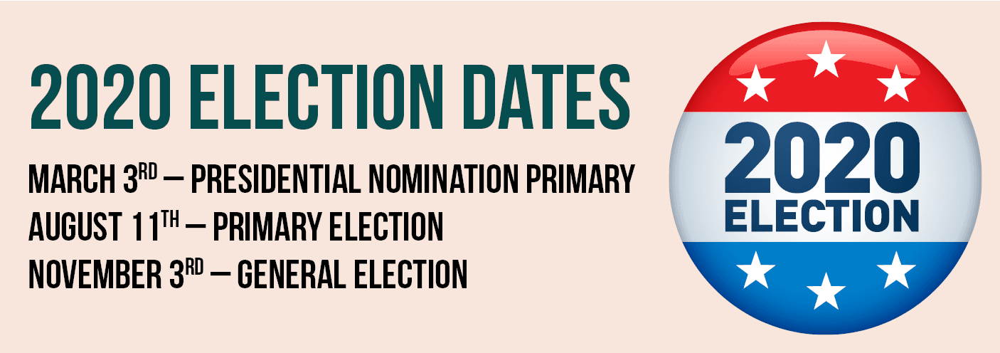 2020 Election Dates Banner